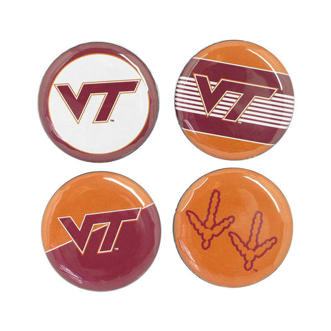 Virginia Tech Buttons: Pack of 4