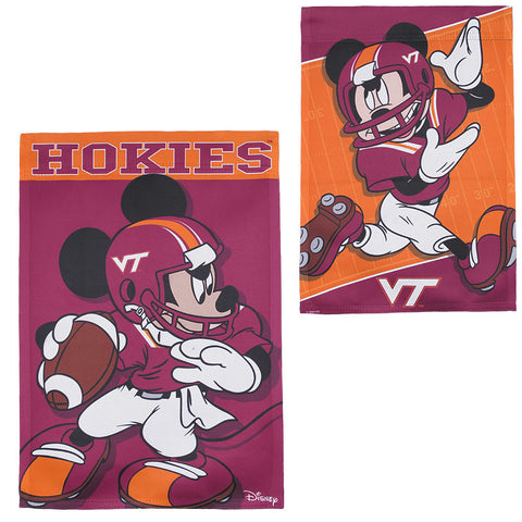 Virginia Tech Mickey Mouse Garden Flag