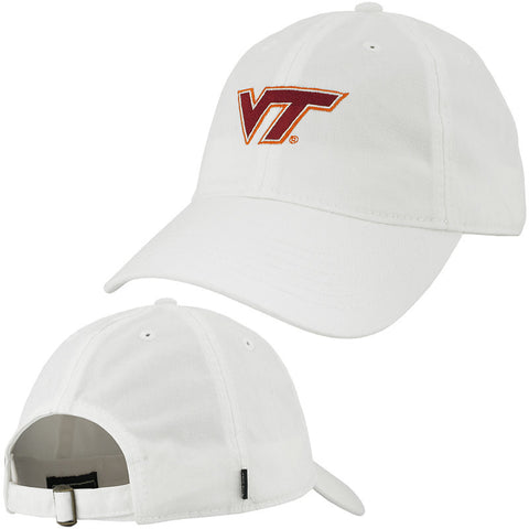 Virginia Tech Logo Hat: White by Legacy
