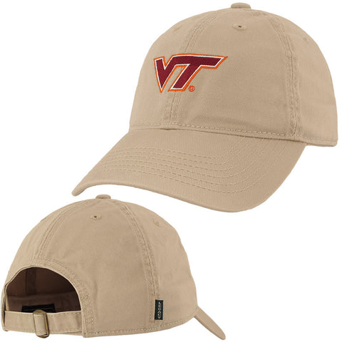 Virginia Tech Logo Hat: Khaki by Legacy