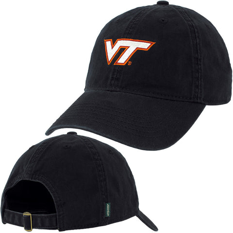 Virginia Tech Logo Hat: Black by Legacy