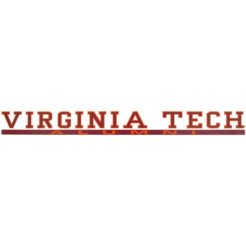 Virginia Tech Alumni Strip Decal