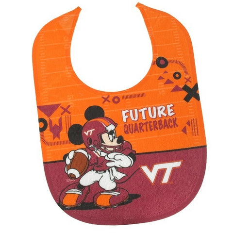 Virginia Tech Mickey Mouse Baby Bib