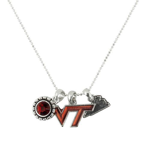 Virginia Tech Home Sweet School Necklace