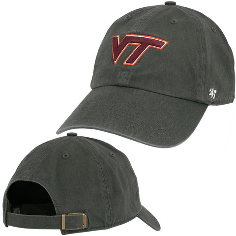 Virginia Tech Clean Up Hat: Charcoal by 47 Brand