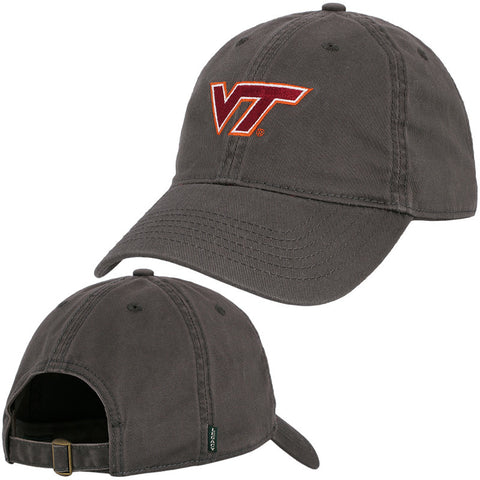 Virginia Tech Logo Hat: Charcoal by Legacy