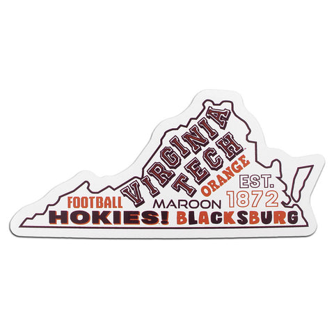 Virginia Tech State of Virginia All Over Magnet