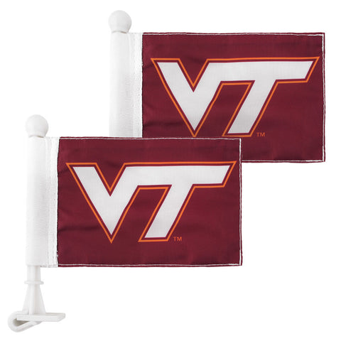 Virginia Tech Car Hood Flag: Pack of 2