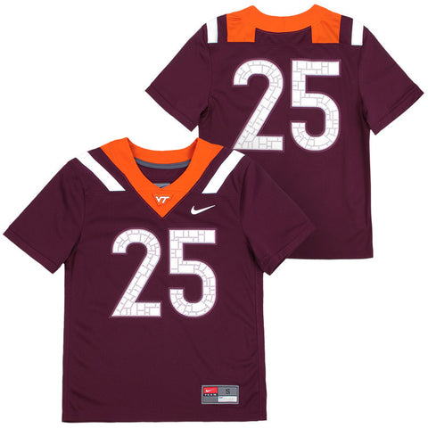 Virginia Tech #25 Youth Replica Football Jersey by Nike