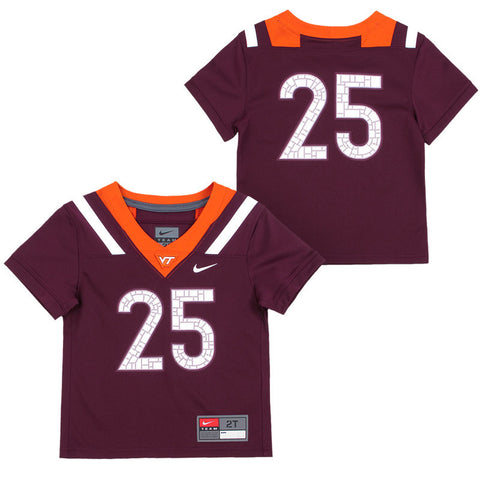 Virginia Tech #25 Toddler Replica Football Jersey by Nike