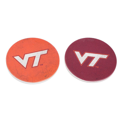 Virginia Tech Logo Car Coasters