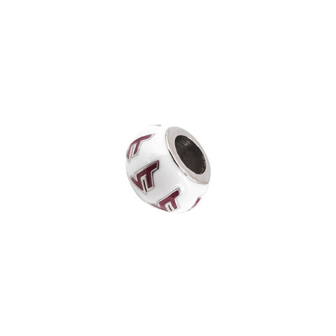 Virginia Tech Bead Charm: White