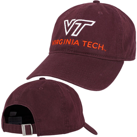 Virginia Tech University Logo Hat: Maroon by Champion
