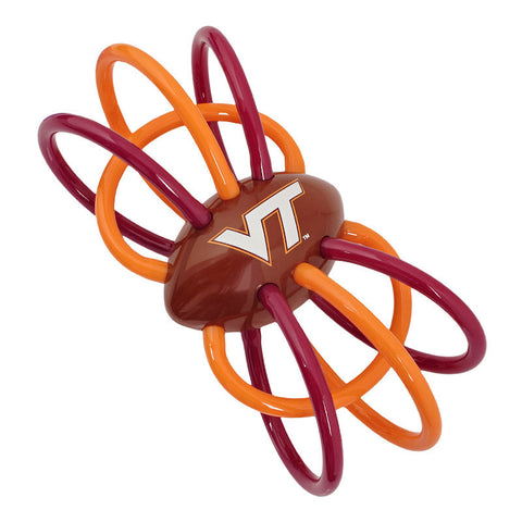 Virginia Tech Baby Rattle and Teething Toy