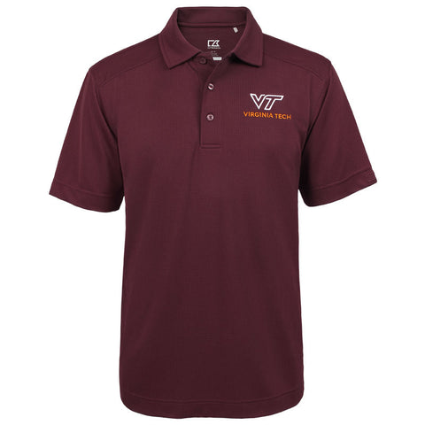 Virginia Tech Men's University Logo Genre Polo by Cutter & Buck