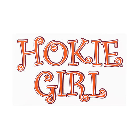 Virginia Tech Hokie Girl Decal