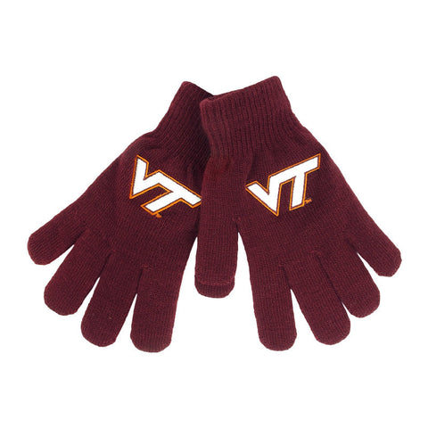 Virginia Tech Youth Poppins Knit Gloves