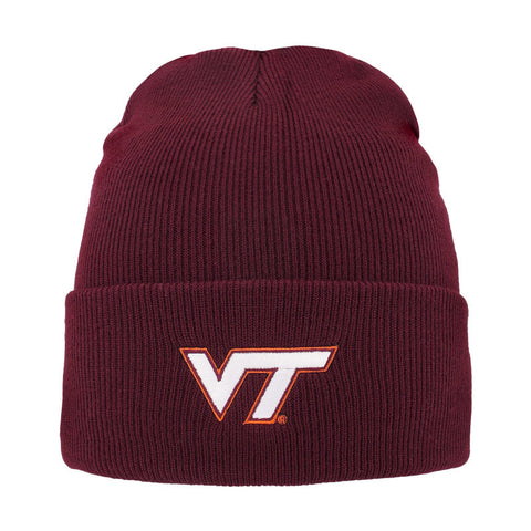 Virginia Tech North Pole Cuffed Knit Beanie: Maroon
