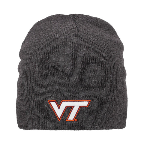 Virginia Tech Everest Knit Beanie: Charcoal