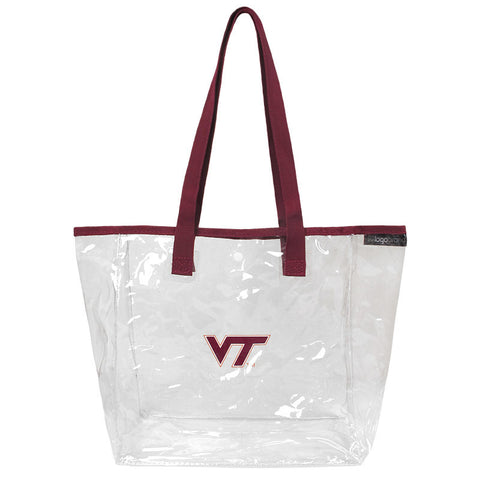 Virginia Tech Clear Stadium Snap Tote Bag