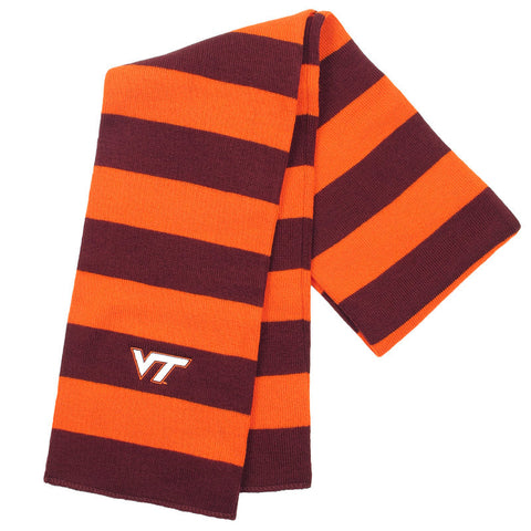 Virginia Tech Niagara Striped Knit Scarf