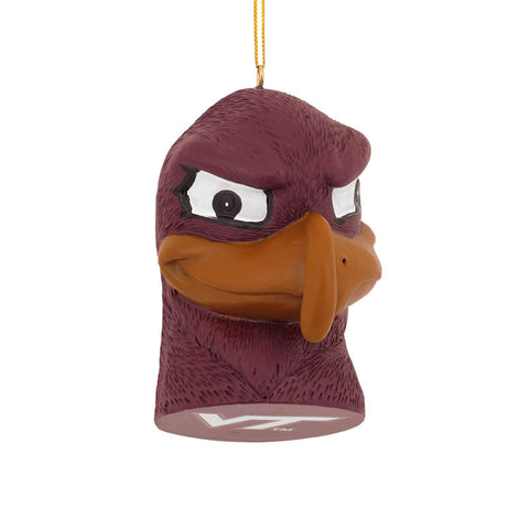 Virginia Tech Hokie Bird Head Ornament
