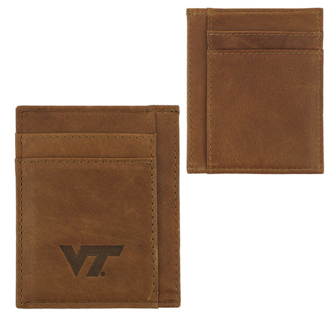 Virginia Tech Leather Slim Front Pocket Wallet