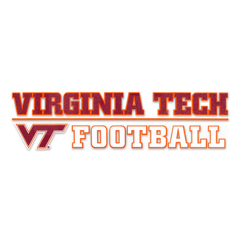 Virginia Tech Sports Decal: Football
