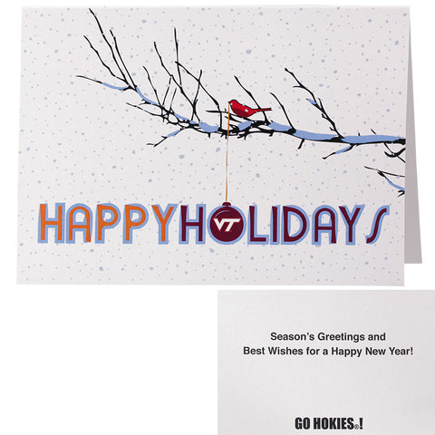 Virginia Tech Bird Holiday Greeting Cards: Pack of 10