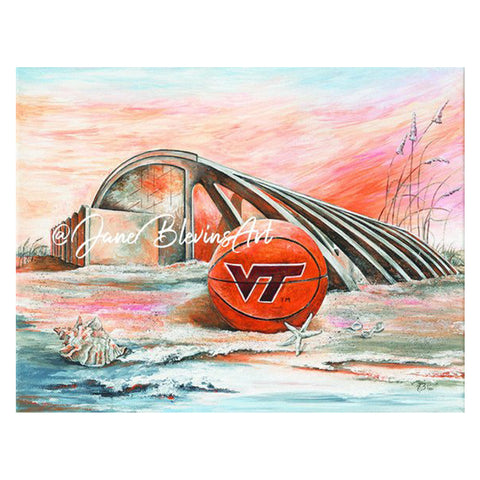 "Virginia Tech ""Sand Cassell"" Print by Jane Blevins"