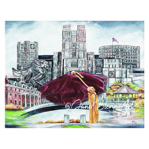 "Virginia Tech ""Tech Triumph"" Print by Jane Blevins"