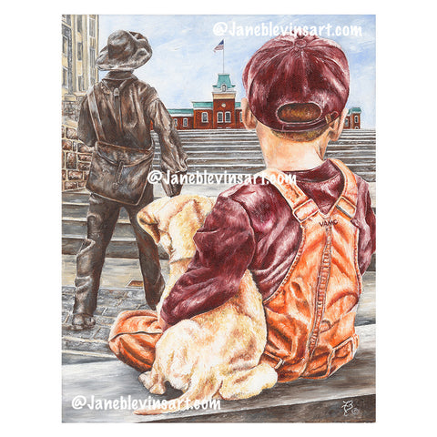 "Virginia Tech ""Dreams To Serve"" Print by Jane Blevins"