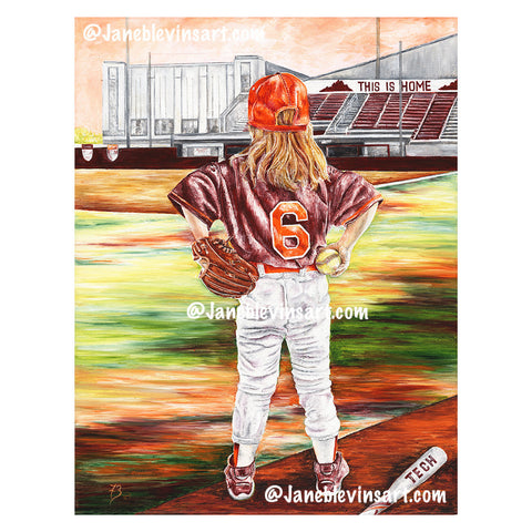 "Virginia Tech ""Diamond Girl"" Print by Jane Blevins"