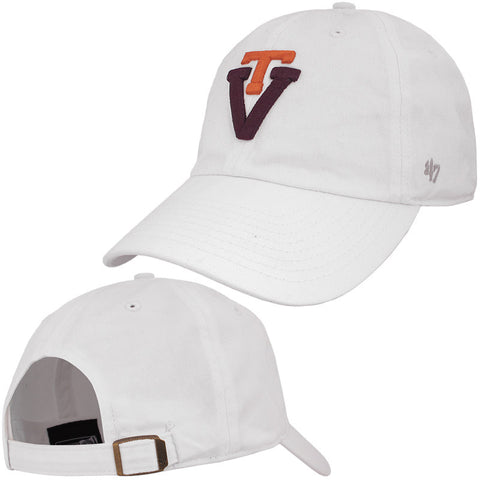 Virginia Tech Retro Logo Hat: White by 47 Brand