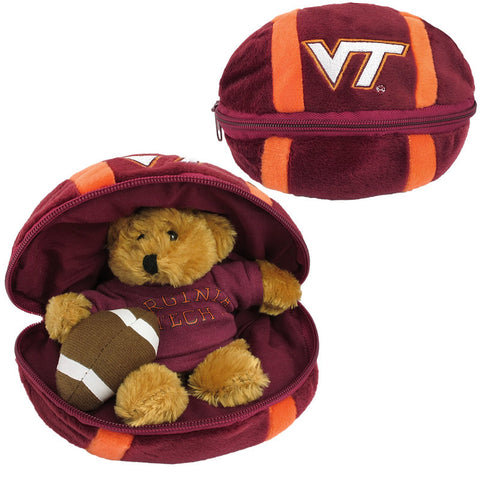 Virginia Tech Plush Football with Hidden Bear