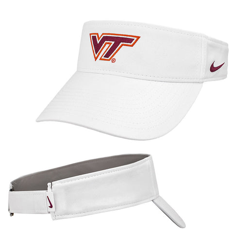 Virginia Tech Dry Visor: White by Nike
