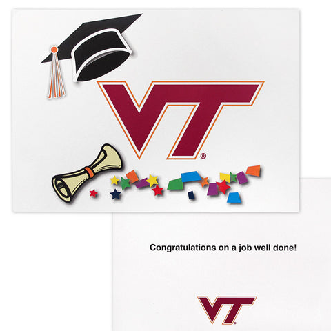 Virginia Tech Graduation Cap Card