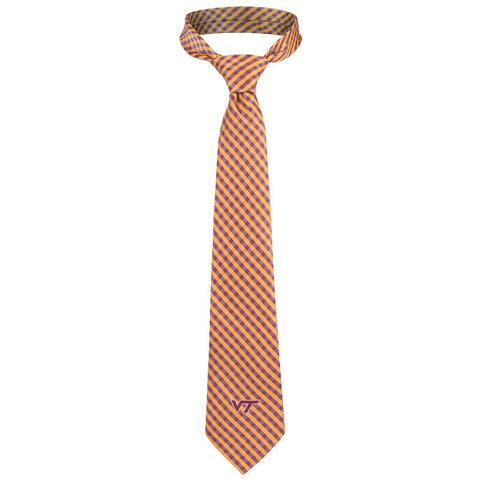 Virginia Tech Gingham Tie