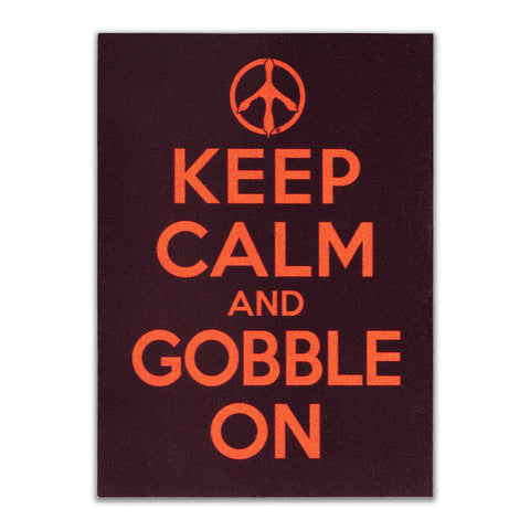 "Maroon and Orange ""Keep Calm and Gobble On"" Refrigerator Magnet"