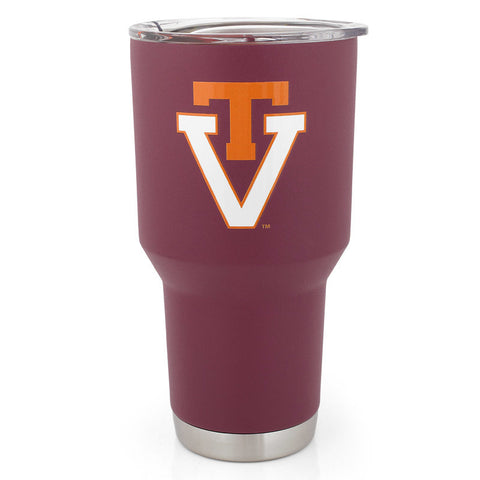 Virginia Tech Powder Coated Vault Tumbler 30 oz.