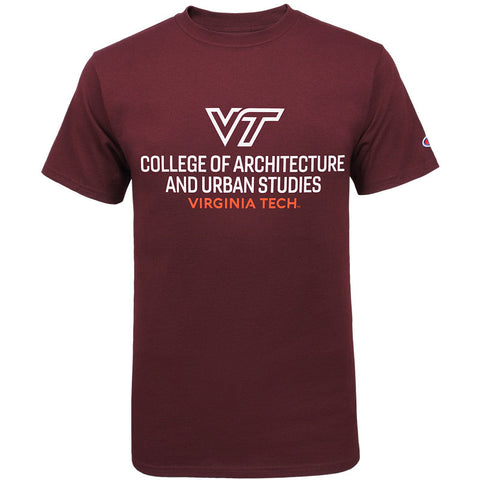 Virginia Tech College of Architecture and Urban Studies T-Shirt by Champion