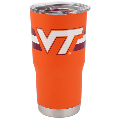 Virginia Tech Striped Powder Coated Tumbler 20 oz.: Orange