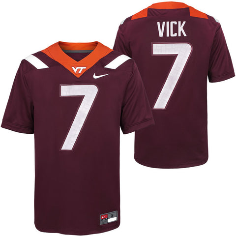 Virginia Tech #7 Michael Vick Replica Football Jersey by Nike