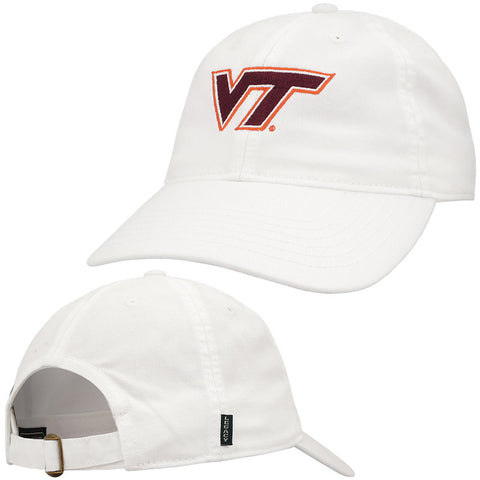 Virginia Tech Women's Logo Hat: White by Legacy