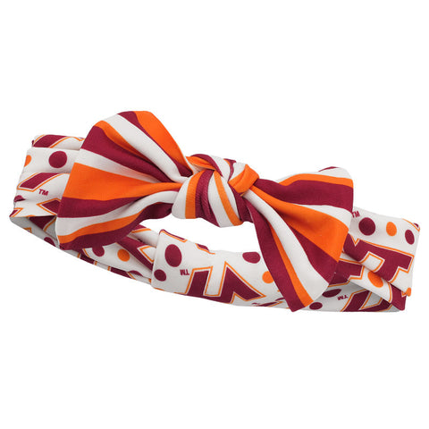 Virginia Tech Baby Striped Bowtie Headband