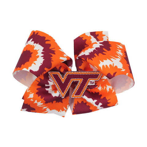 Virginia Tech Tie-Dye Jumbo Bow Barrette