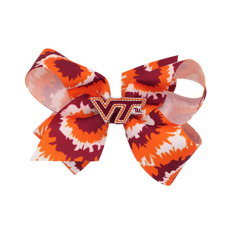 Virginia Tech Tie-Dye Bow Barrette