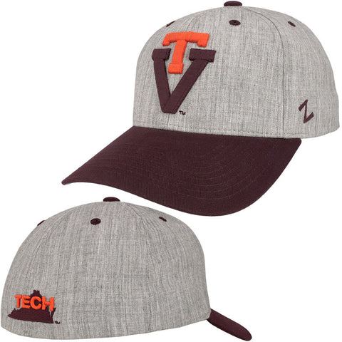 Virginia Tech Vault Oxford Fitted Hat by Zephyr