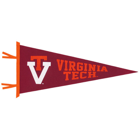 Virginia Tech 12x30 Retro Logo Pennant