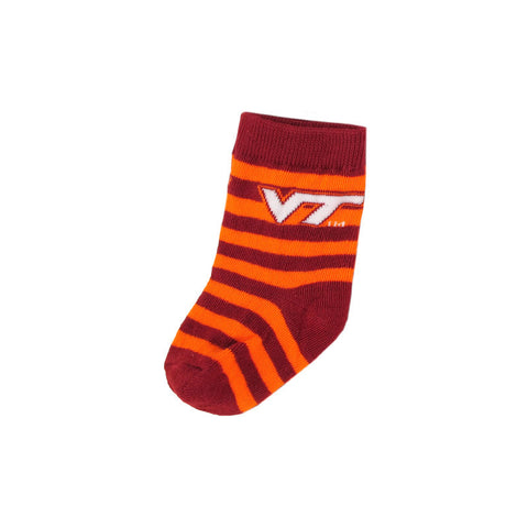 Virginia Tech Baby Logo Striped Socks